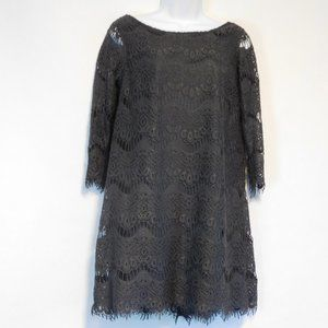 ZARA gray dress M TRF Collection Charcoal lace